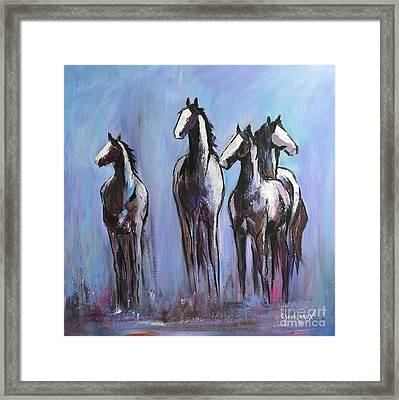 Day Of Blue Framed Print by Cher Devereaux