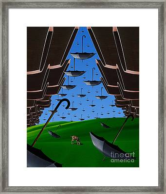 Day Of The Bumbershoots Framed Print by Keith Dillon