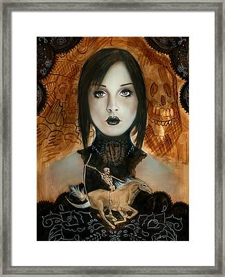 Day Of The Dead 2 Framed Print by Luis  Navarro