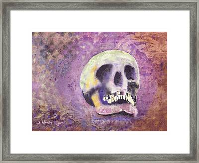 Framed Print featuring the digital art Day Of The Dead by Arline Wagner
