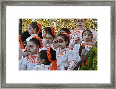 Day Of The Dead Framed Print by Diane Lent