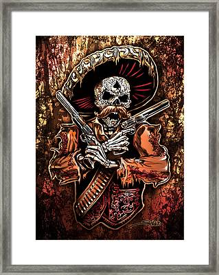 Day Of The Dead Gunslinger Framed Print