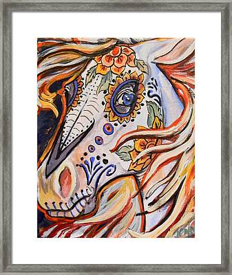 Day Of The Dead Horse Framed Print