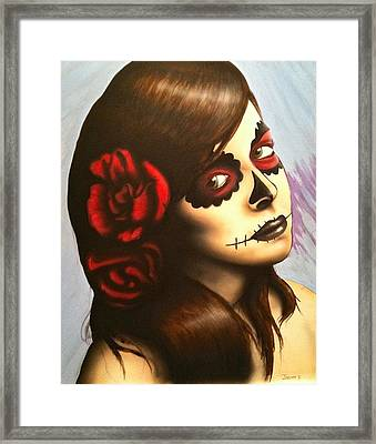 Day Of The Dead Framed Print by Jeremy Evans