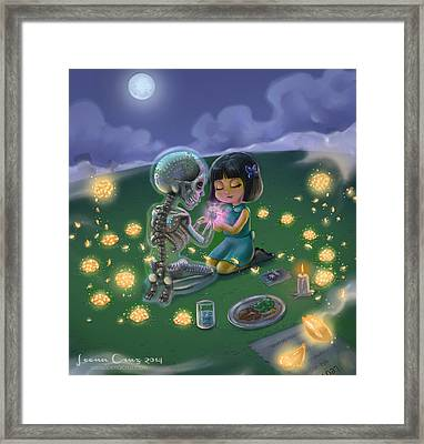 Day Of The Dead Lovesong  Framed Print by Leena Cruz