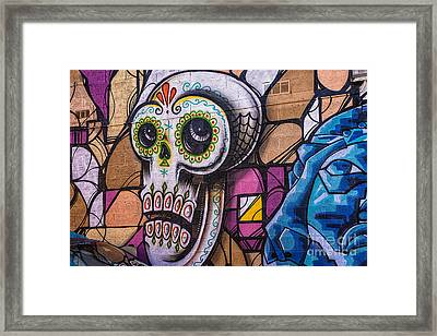 Day Of The Dead Mural Framed Print by Terry Rowe
