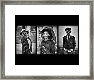 Day Of The Dead Triptych Framed Print by David Brommer