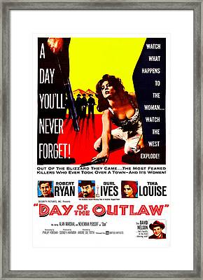 Day Of The Outlaw, Us Poster, Tina Framed Print by Everett