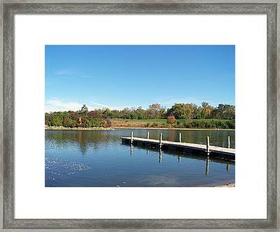 Day On The Lake Framed Print by Teresa Schomig