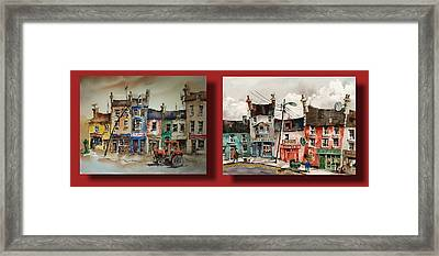 Day To Day Ennistymon Clare Framed Print by Val Byrne