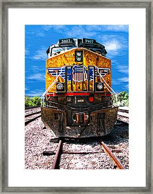 Day Train Framed Print by Wendy J St Christopher