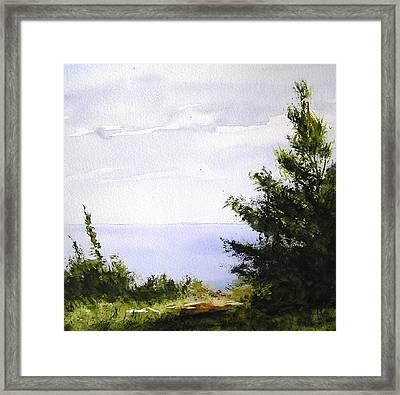 Daybreak Above Lake Superior Framed Print