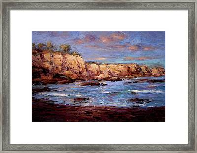 Daybreak At Montana De Oro Beach Framed Print by R W Goetting