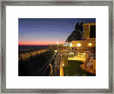 Daybreak At Sea Framed Print