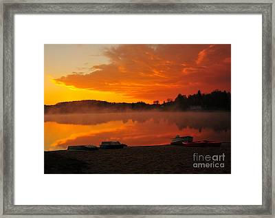 Daybreak At The Beach Framed Print