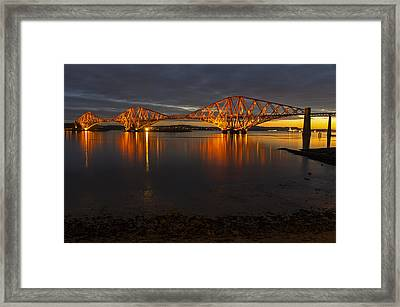 Daybreak At The Forth Bridge Framed Print