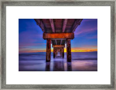 Daybreak At The Pier Framed Print by Marvin Spates