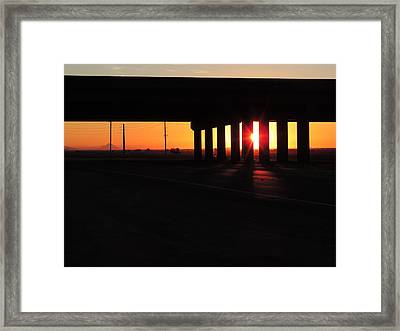 Daybreak Bridge Framed Print by Bill Tomsa