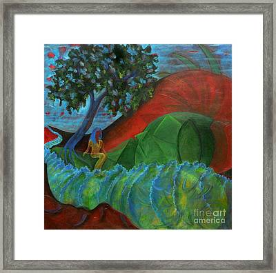Uncertain Journey Framed Print by Elizabeth Fontaine-Barr