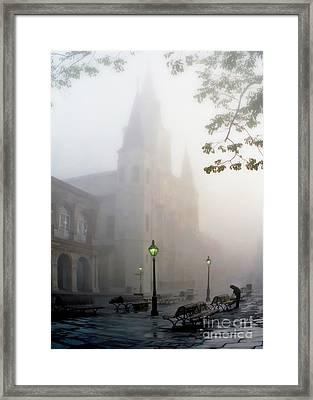 Daybreak In Jackson Square Framed Print