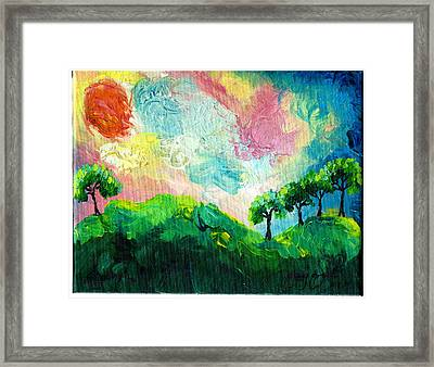 Daybreak In Paradise Framed Print by Ifeanyi C Oshun