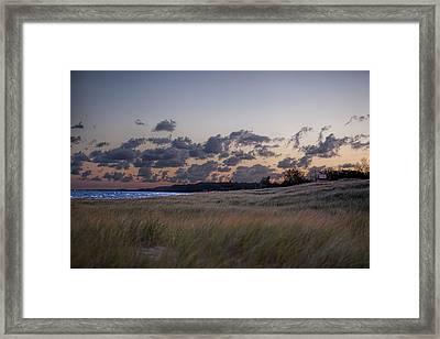 Daybreak In St Joseph Michigan Framed Print by John Crothers