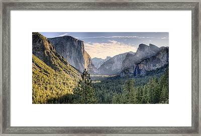 Daybreak In The Valley Framed Print