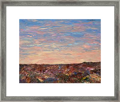 Daybreak Framed Print by James W Johnson