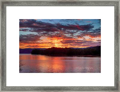 Daybreak Lake Ocoee Framed Print by Paul Herrmann