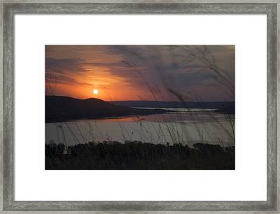 Daybreak On Glen Lake Framed Print