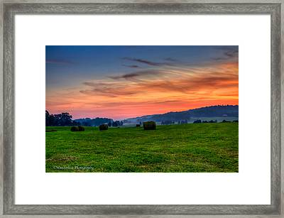 Daybreak On The Farm Framed Print by Paul Herrmann