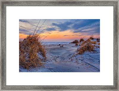 Daybreak On The Outer Banks 1 Framed Print by Dan Carmichael