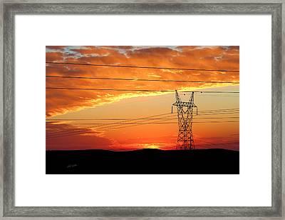 Daybreak On The Plains Framed Print