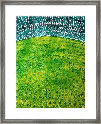 Daybreak Original Painting Framed Print by Sol Luckman