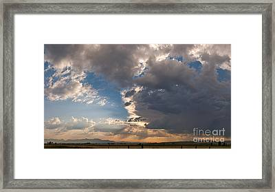 Framed Print featuring the photograph Daybreak Panorama by Charles Kozierok