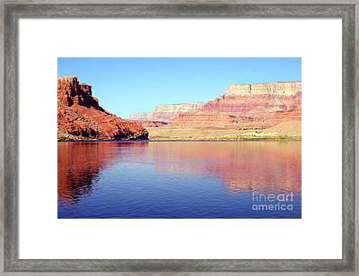 Daybreak - Vermillion Cliffs And Colorado River Framed Print by Douglas Taylor