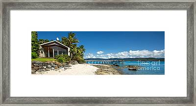 Daydream Island Pano Framed Print by Shannon Rogers