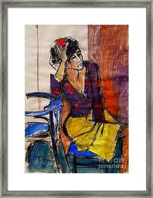 Daydream - Pia #7 - Figure Series Framed Print by Mona Edulesco