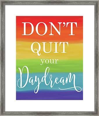 Daydream Rainbow Framed Print by Alli Rogosich
