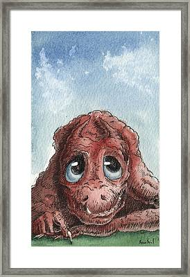 Framed Print featuring the painting Daydreamer by Sean Seal