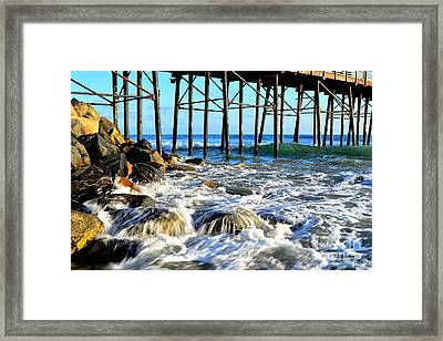 Daydreaming At The Pier Framed Print