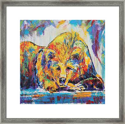 Daydreaming Bear Framed Print