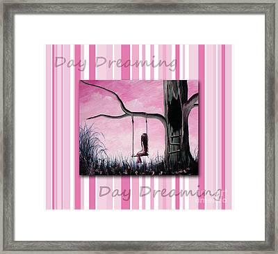 Daydreaming In Pink By Shawna Erback Framed Print by Shawna Erback