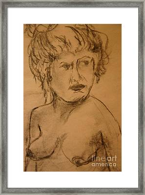 Daydreaming Nude Framed Print by Gabrielle Schertz