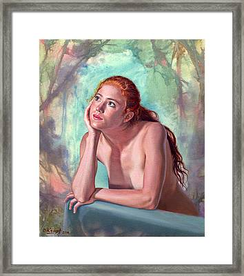 Daydreaming Framed Print