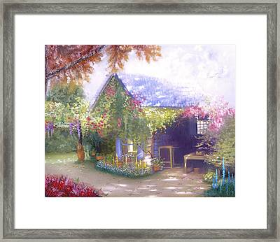 Daylesford Cottage Framed Print