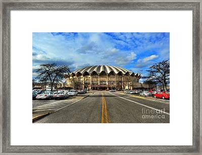 Daylight Of Wvu Basketball Coliseum Arena Framed Print