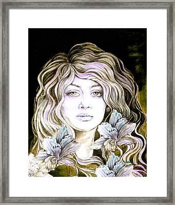 Daylily 2 Framed Print by Diana Shively