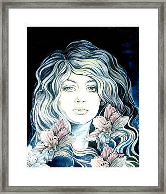 Daylily  Framed Print by Diana Shively