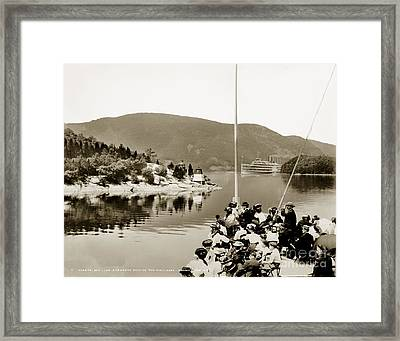 Dayliner At The Narrows In Sepia Tone Framed Print